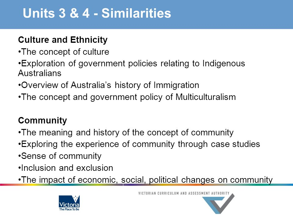 Units 3 & 4 - Similarities Culture and Ethnicity