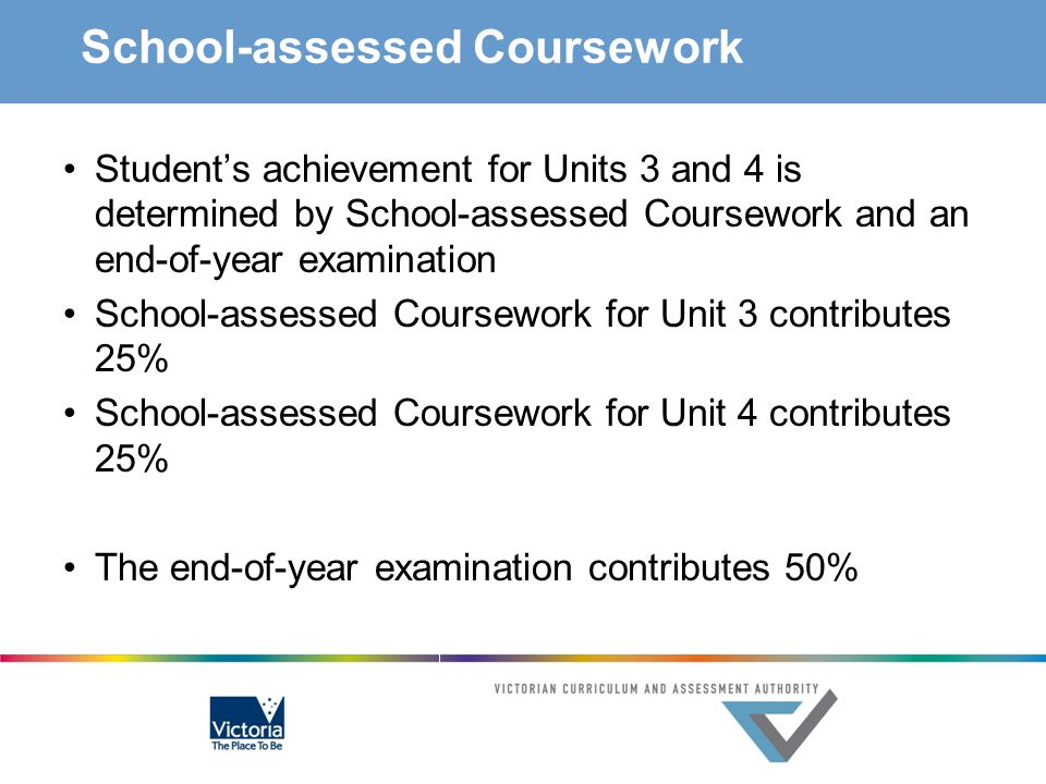School-assessed Coursework
