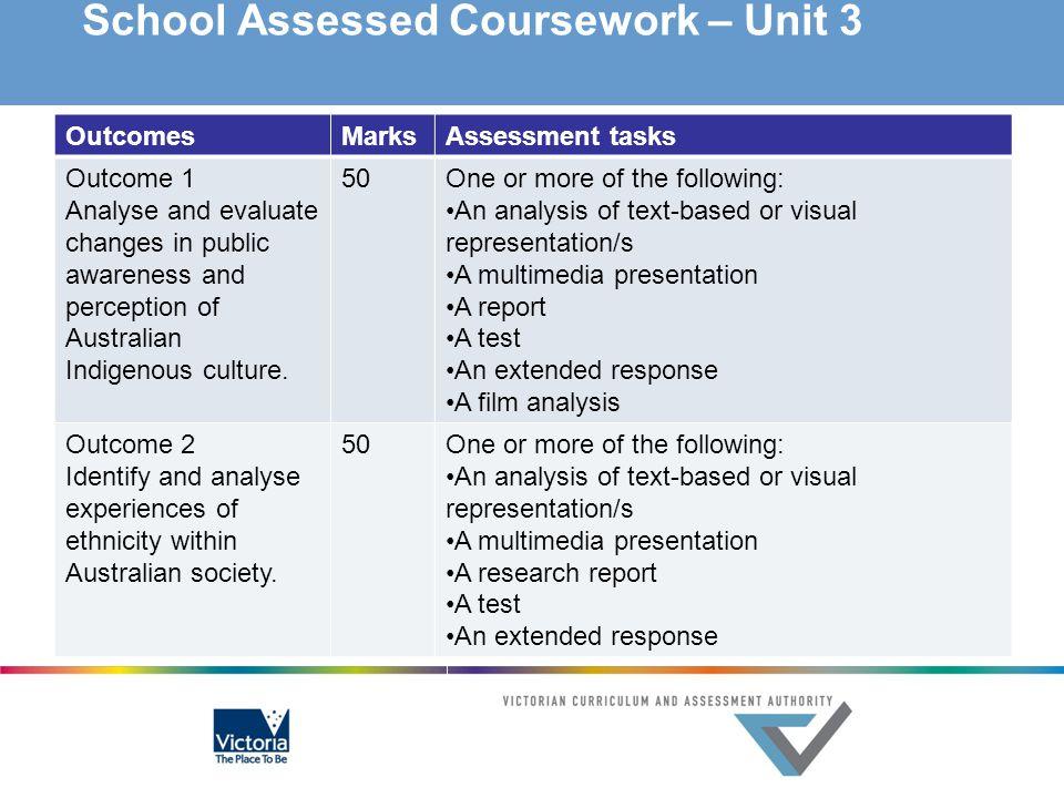 School Assessed Coursework – Unit 3