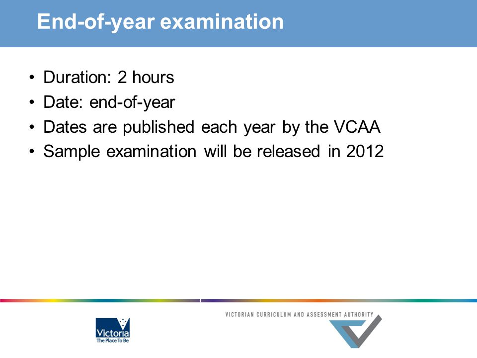 End-of-year examination