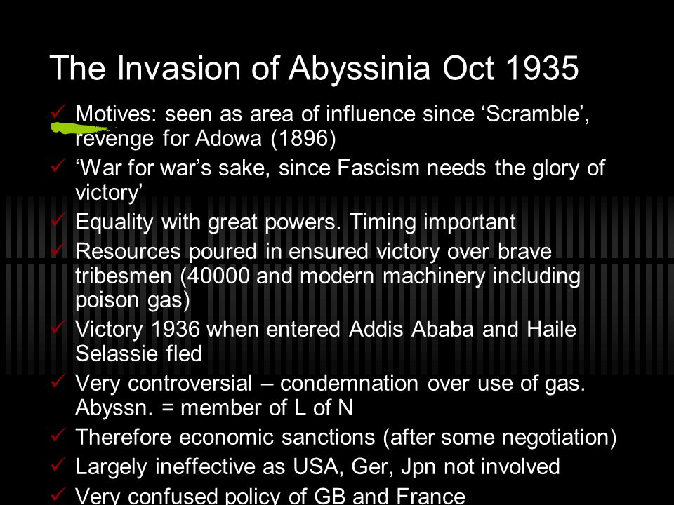 The Invasion of Abyssinia Oct 1935