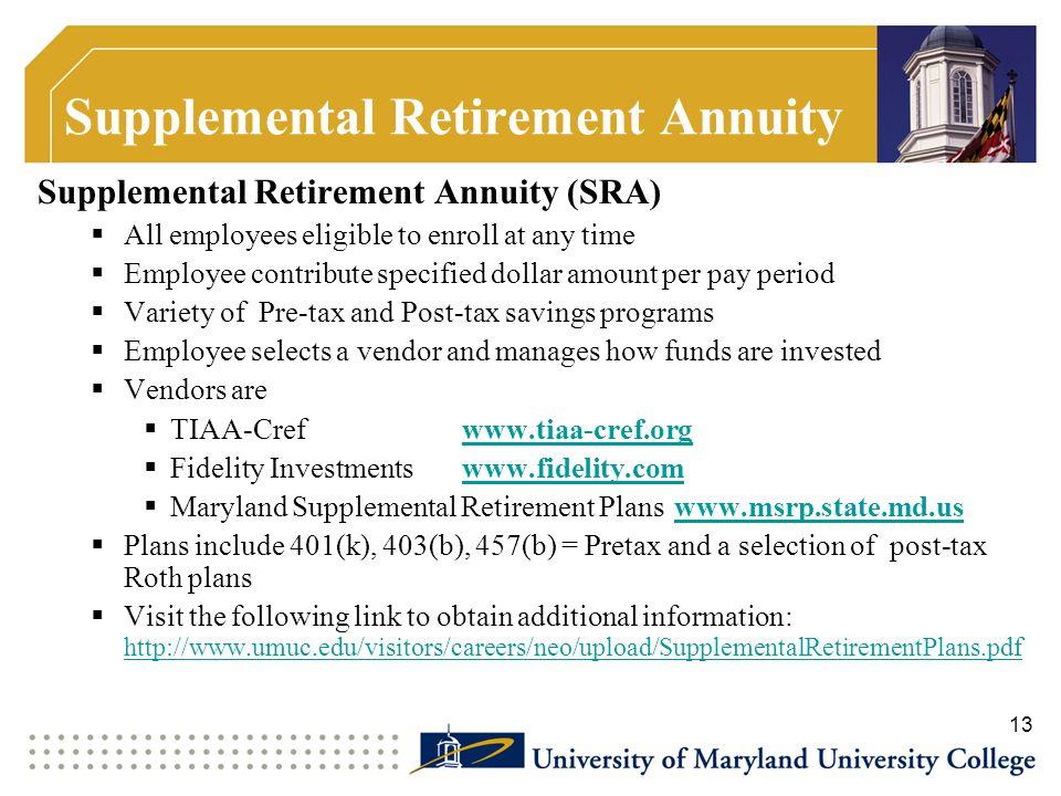 Supplemental Retirement Annuity