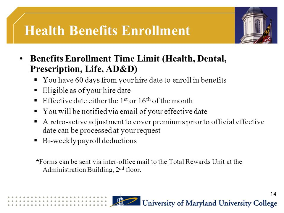 Health Benefits Enrollment