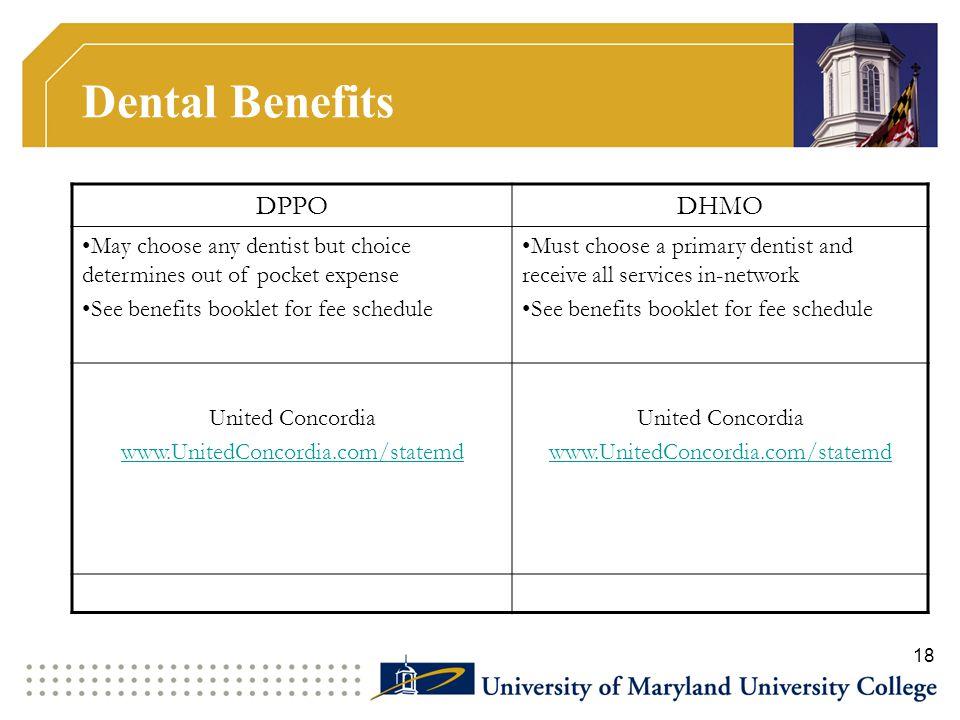 Dental Benefits DPPO DHMO