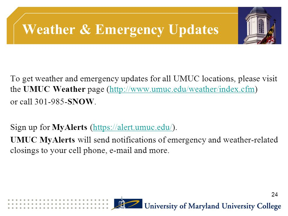 Weather & Emergency Updates