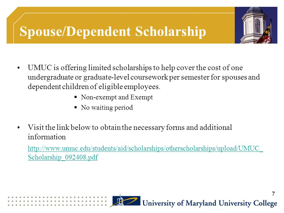 Spouse/Dependent Scholarship