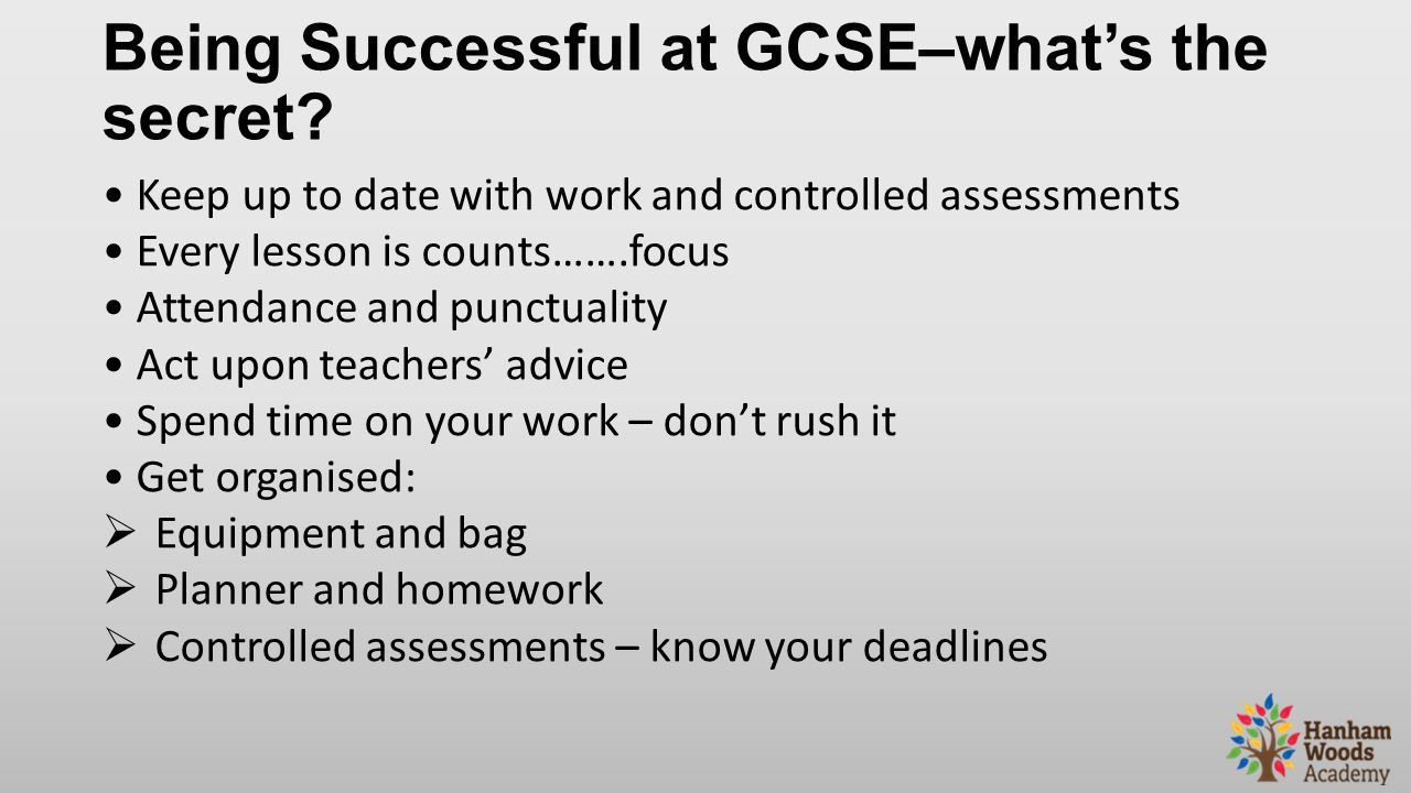 Being Successful at GCSE–what's the secret