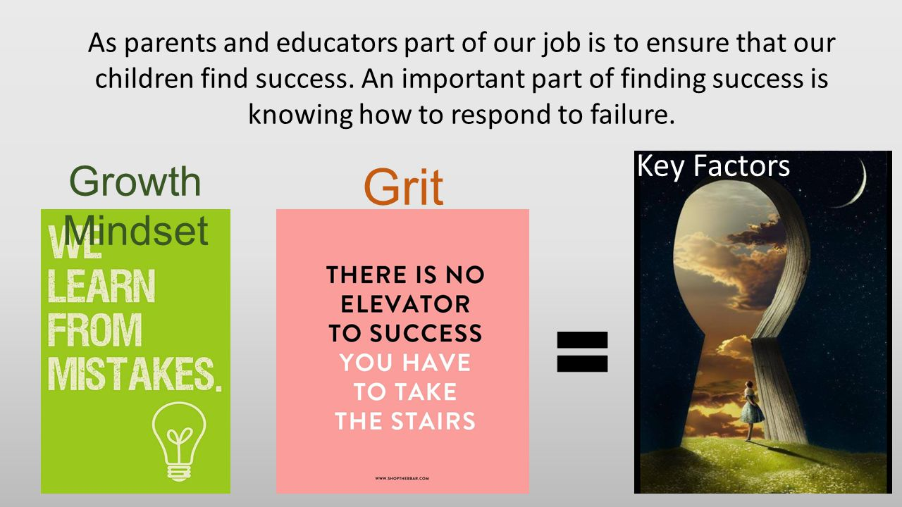 Grit Growth Mindset Key Factors