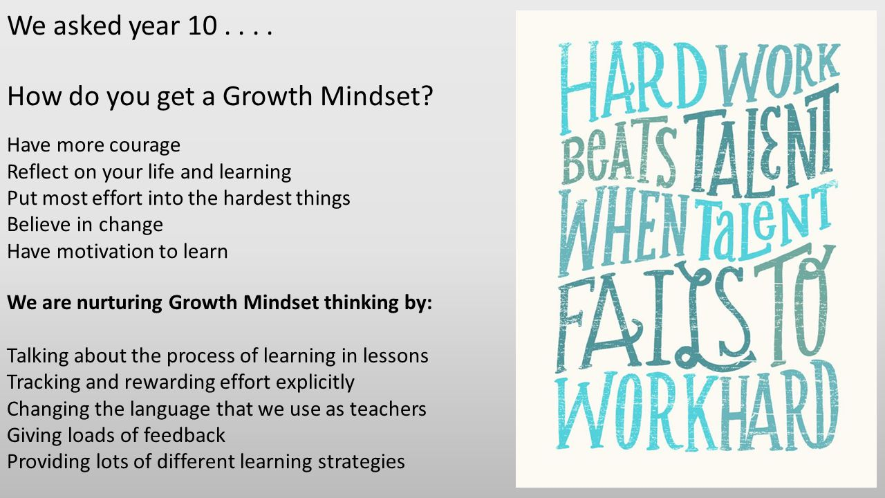 How do you get a Growth Mindset