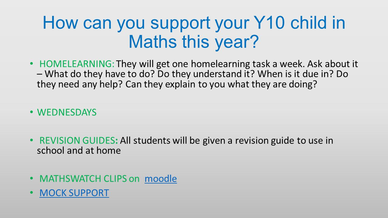 How can you support your Y10 child in Maths this year