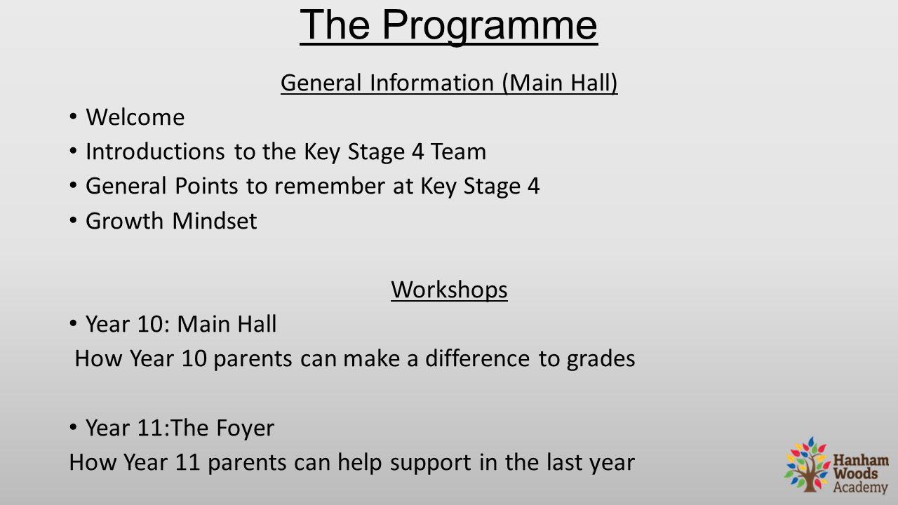 General Information (Main Hall)