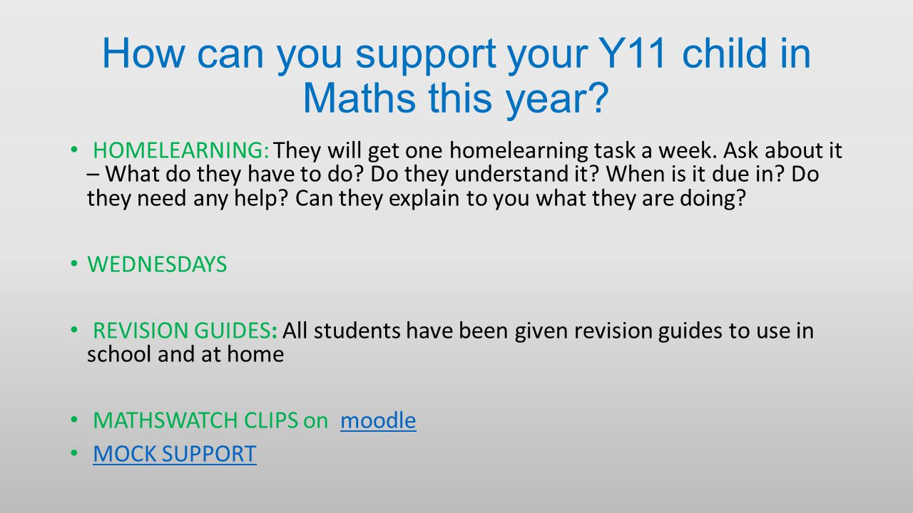 How can you support your Y11 child in Maths this year