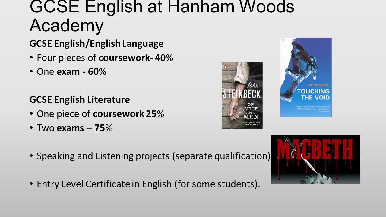 GCSE English at Hanham Woods Academy