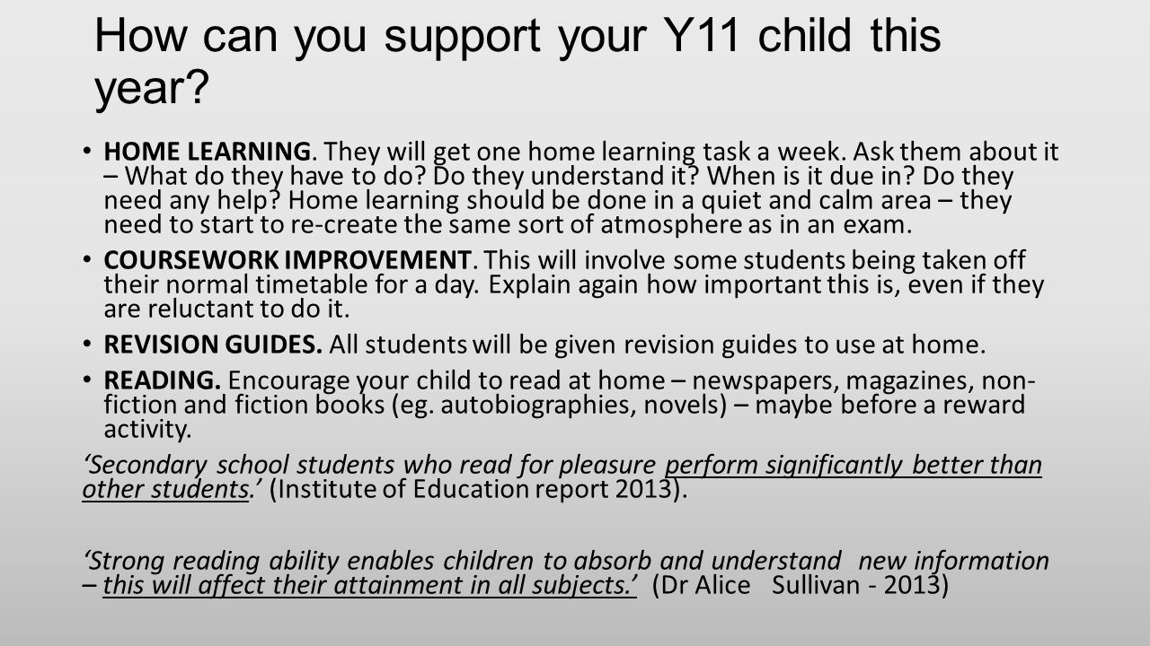 How can you support your Y11 child this year