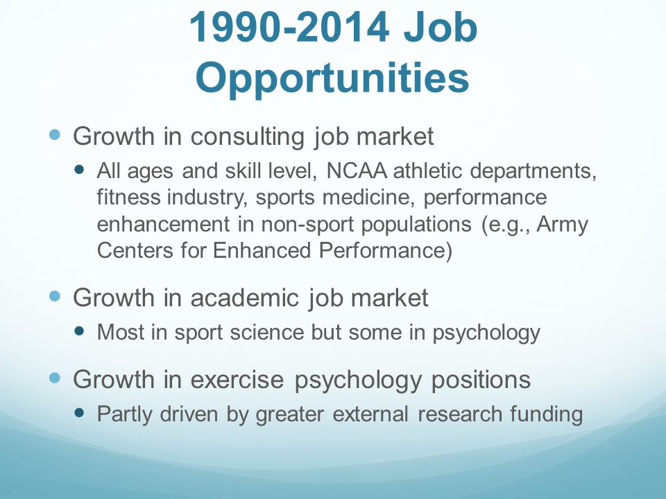 1990-2014 Job Opportunities Growth in consulting job market