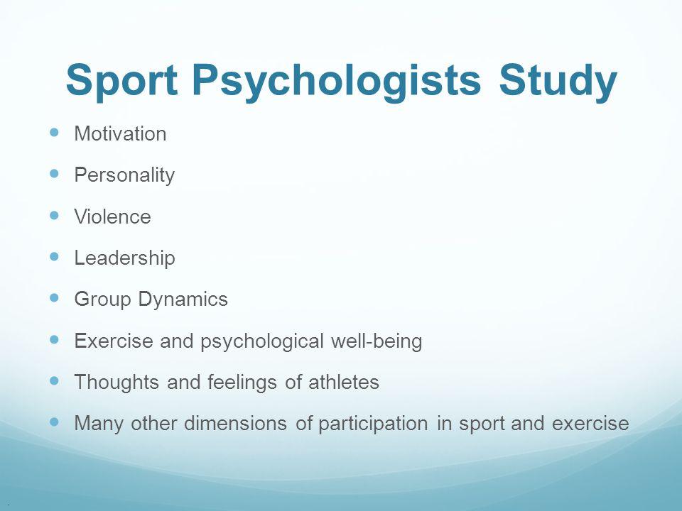 Sport Psychologists Study