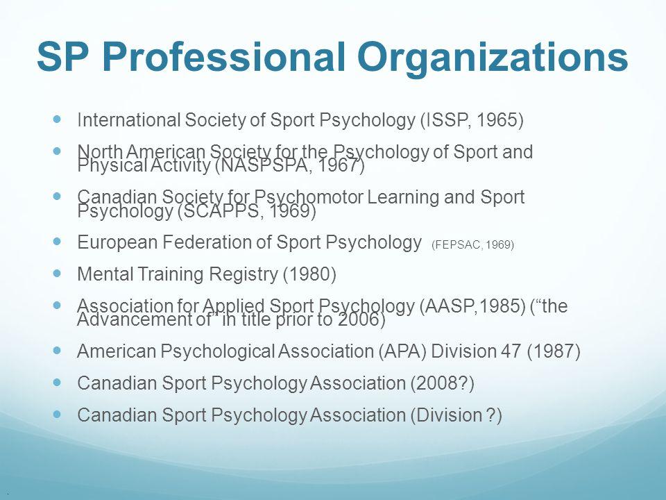SP Professional Organizations