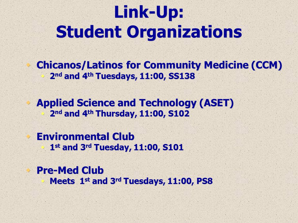 Link-Up: Student Organizations