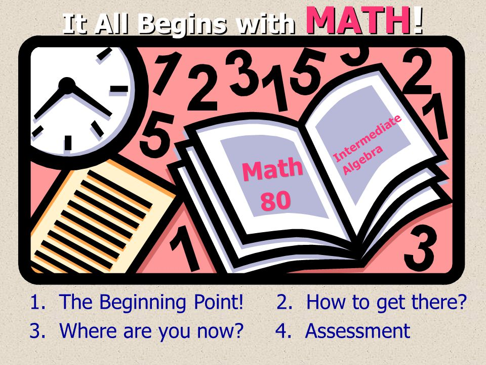 It All Begins with MATH! Math 80