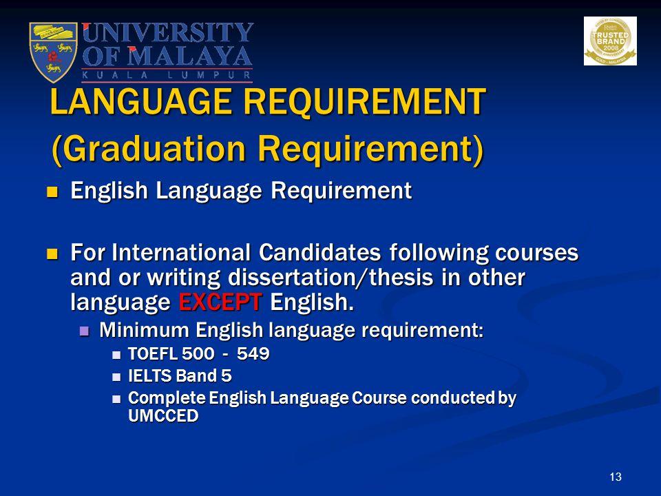 LANGUAGE REQUIREMENT (Graduation Requirement)
