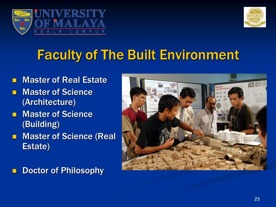 Faculty of The Built Environment