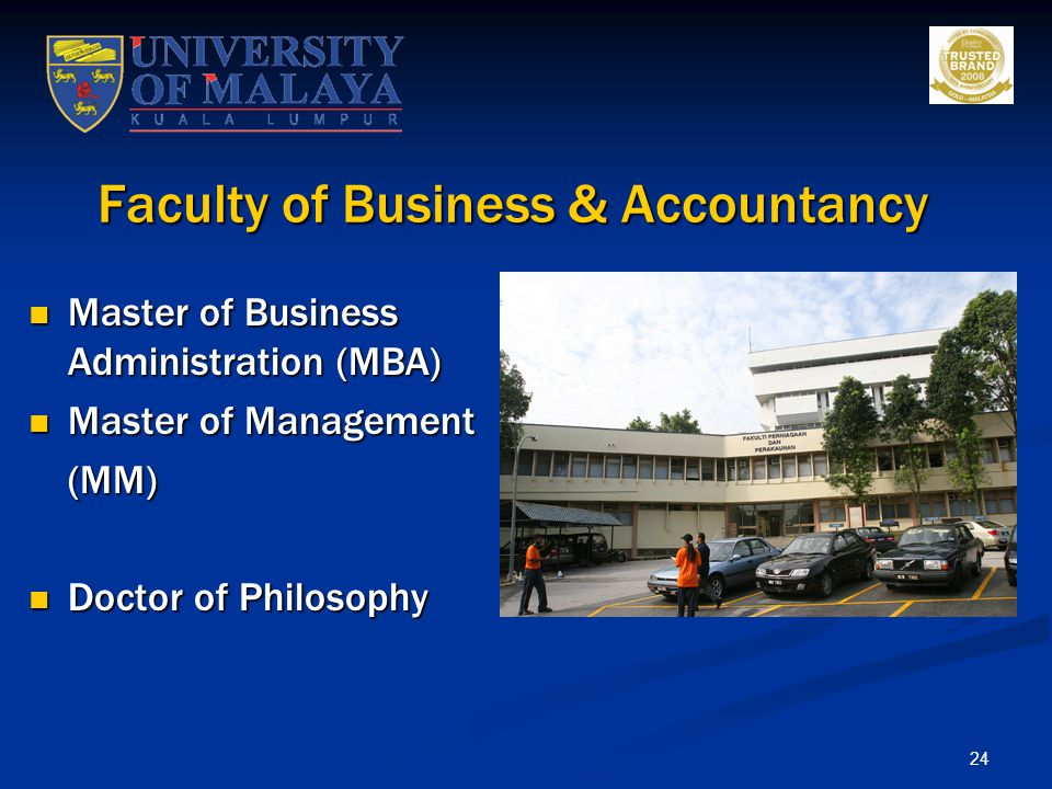 Faculty of Business & Accountancy