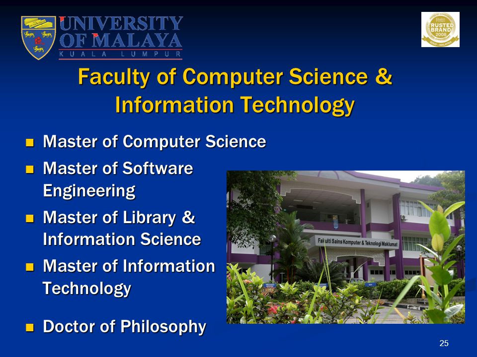 Faculty of Computer Science & Information Technology