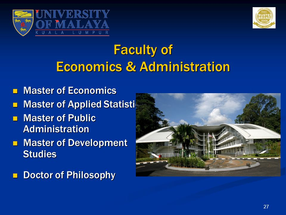Faculty of Economics & Administration