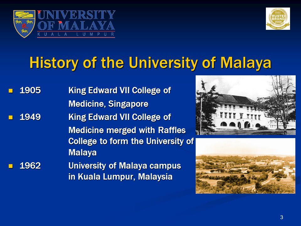 History of the University of Malaya
