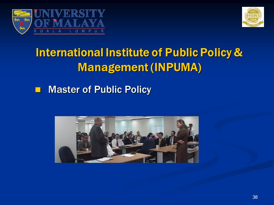 International Institute of Public Policy & Management (INPUMA)
