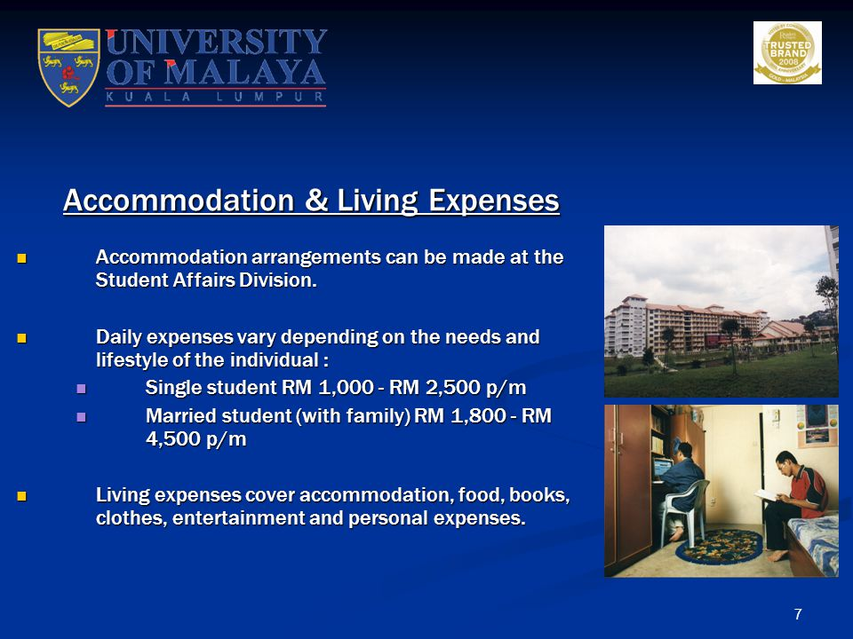 Accommodation & Living Expenses