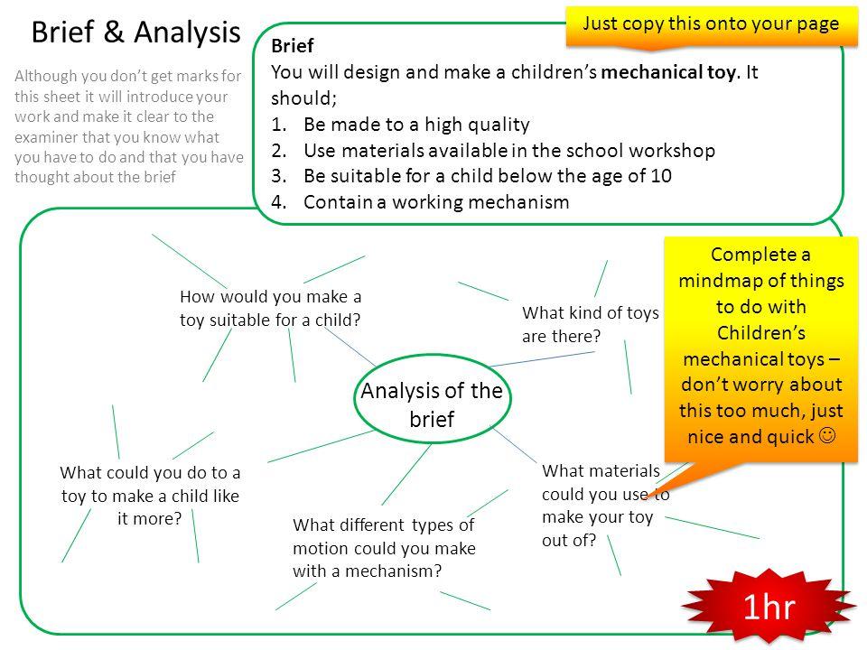 1hr Brief & Analysis Analysis of the brief