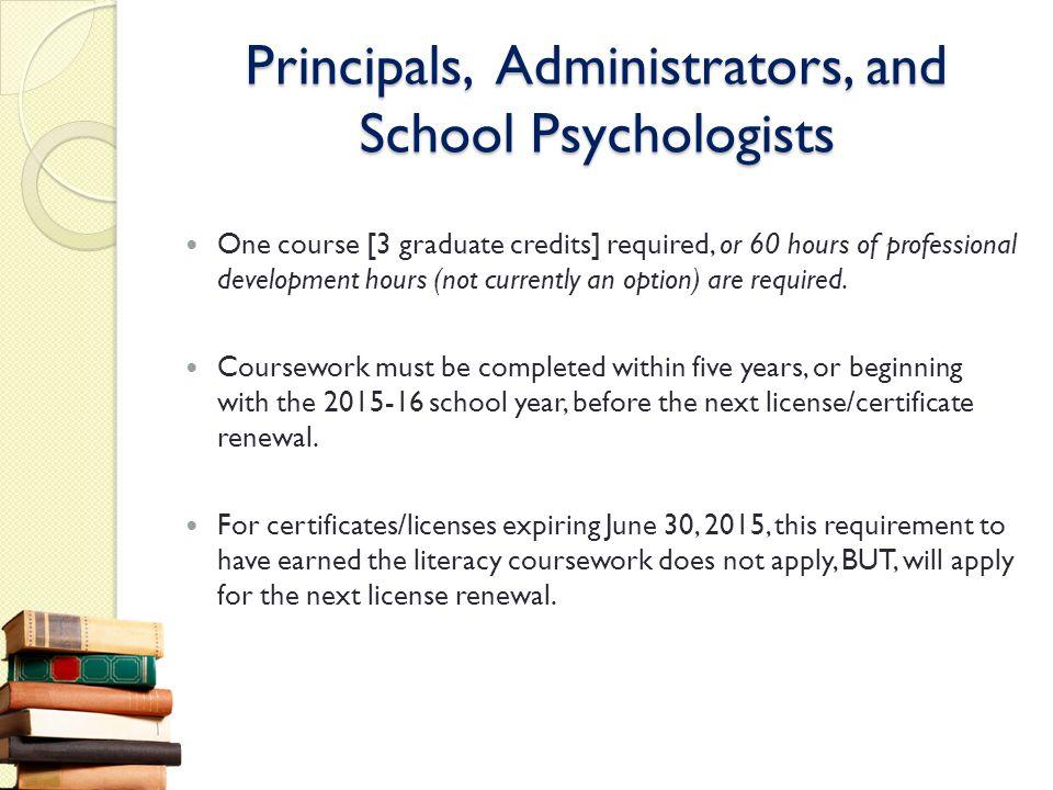 Principals, Administrators, and School Psychologists