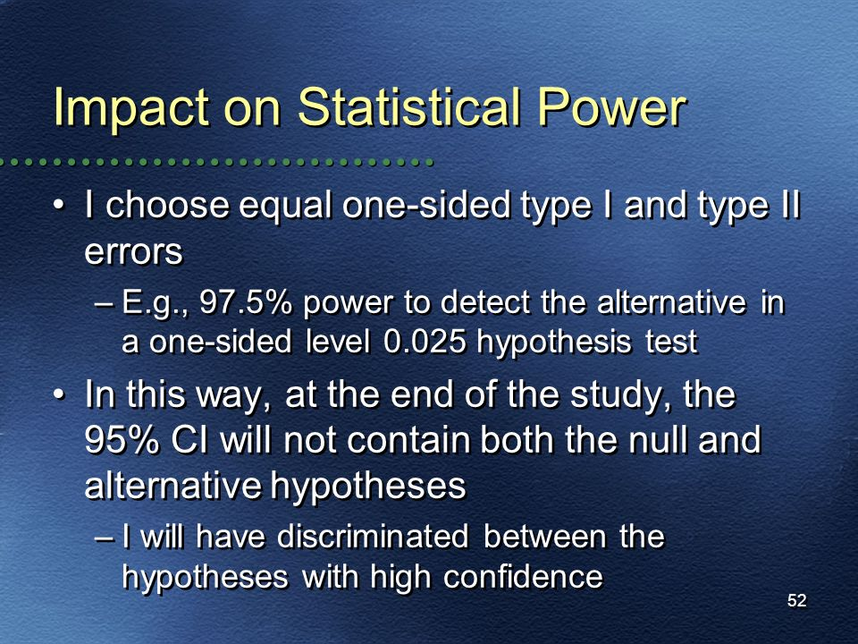 Impact on Statistical Power
