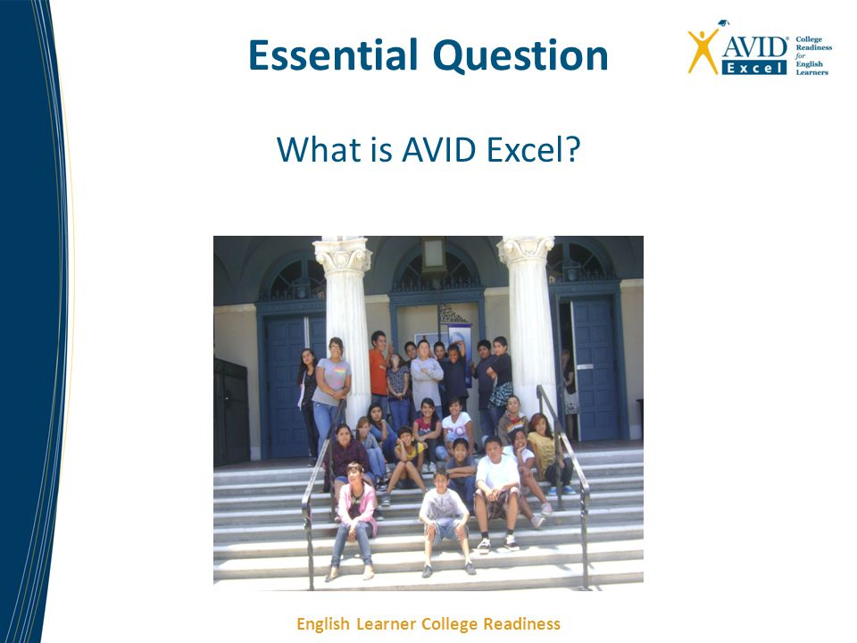 Essential Question What is AVID Excel