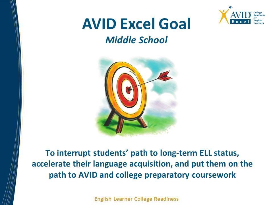 AVID Excel Goal Middle School