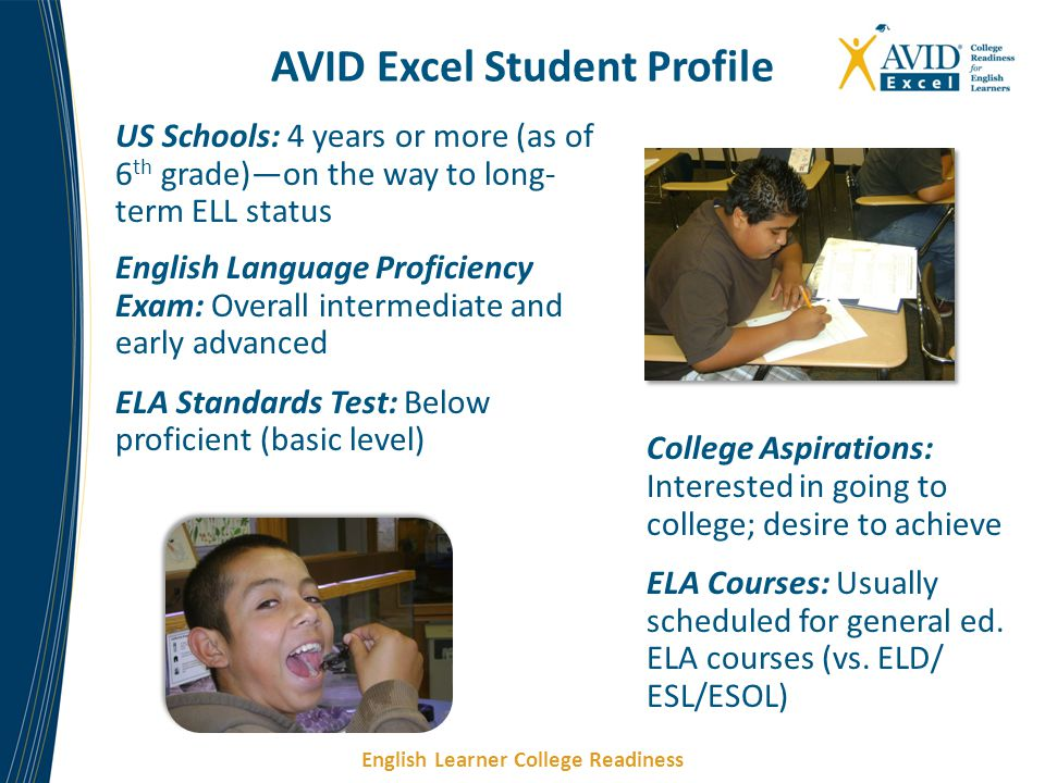 AVID Excel Student Profile