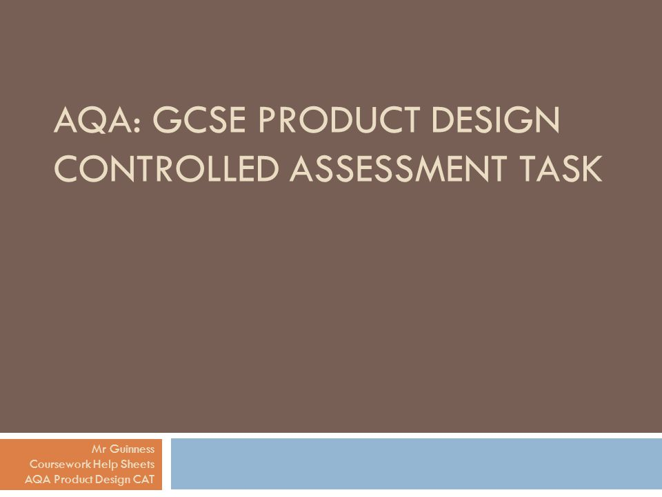 aqa product design coursework tasks