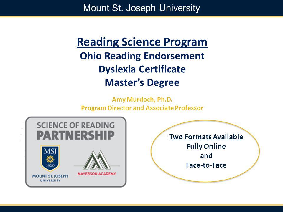 Reading Science Program Ohio Reading Endorsement