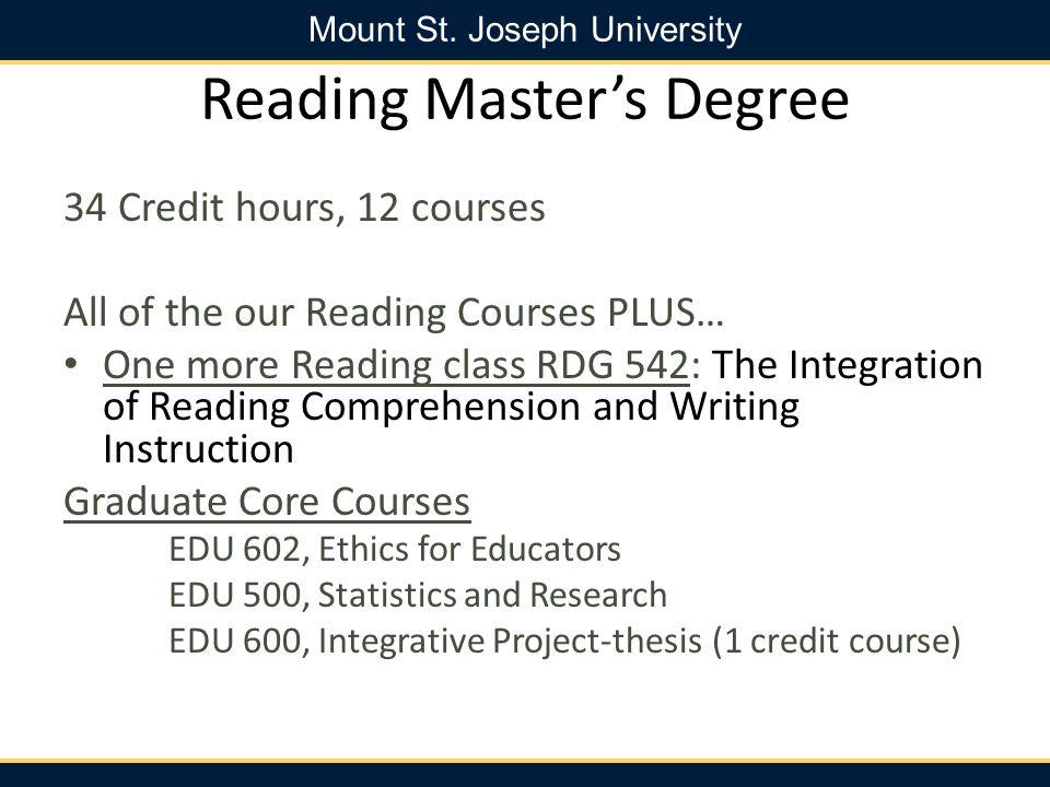 Reading Master's Degree