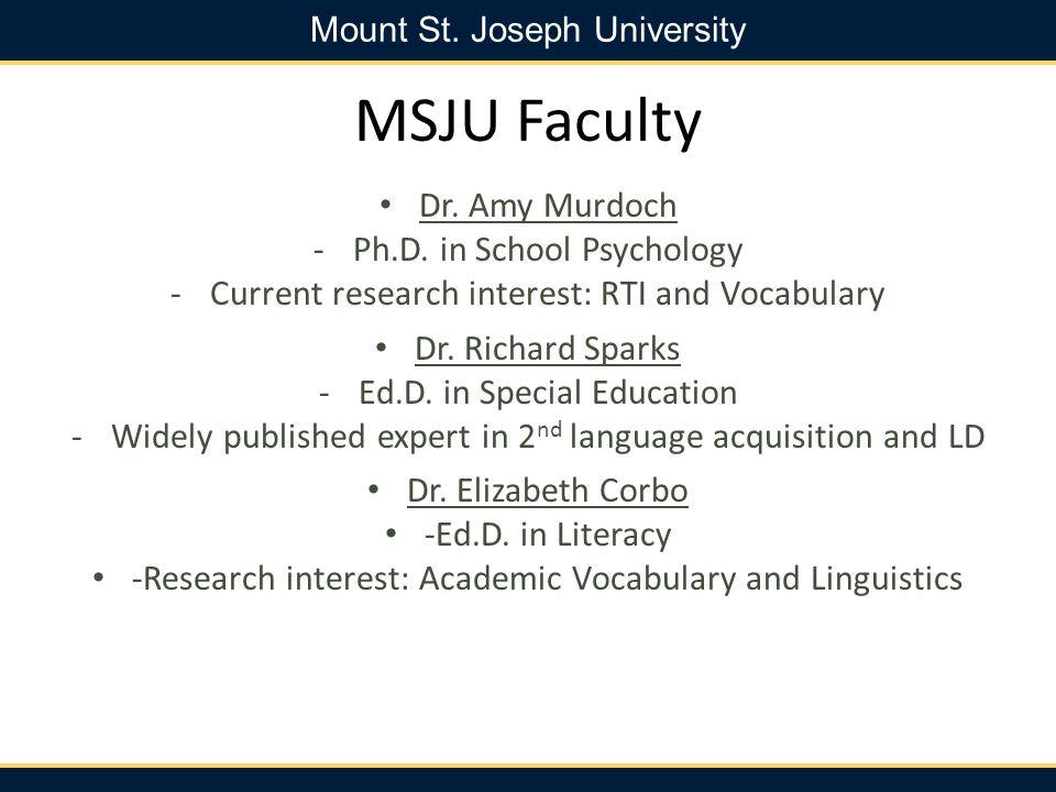 MSJU Faculty Dr. Amy Murdoch Ph.D. in School Psychology