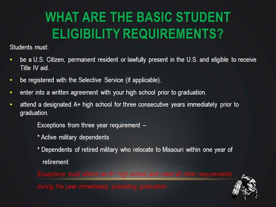What are the basic Student eligibility requirements