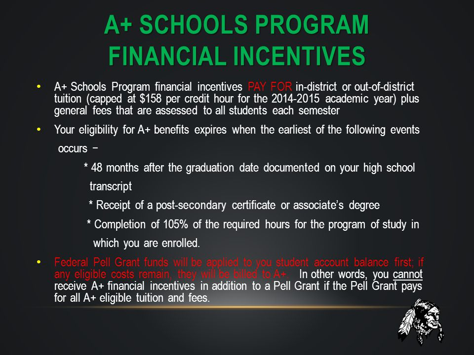 a+ schools program financial incentives