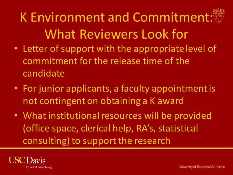 K Environment and Commitment: What Reviewers Look for