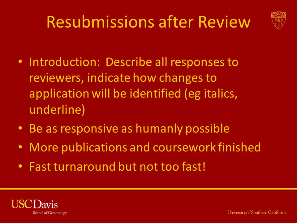 Resubmissions after Review