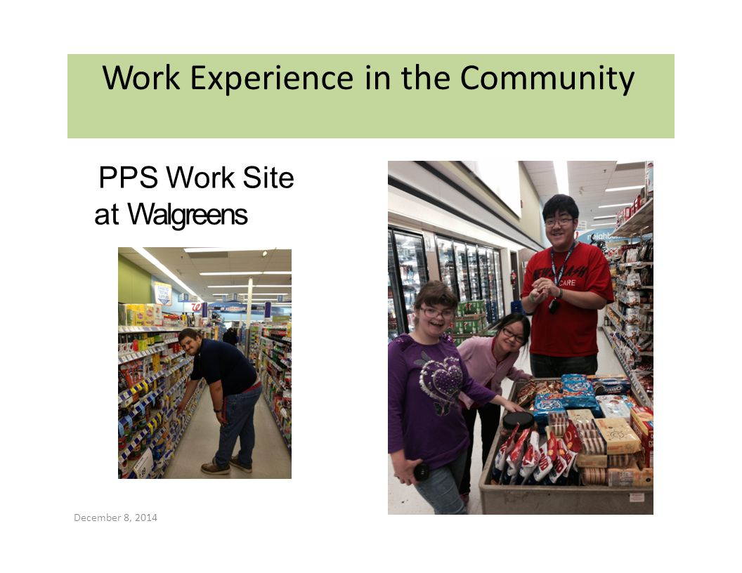 Work Experience in the Community