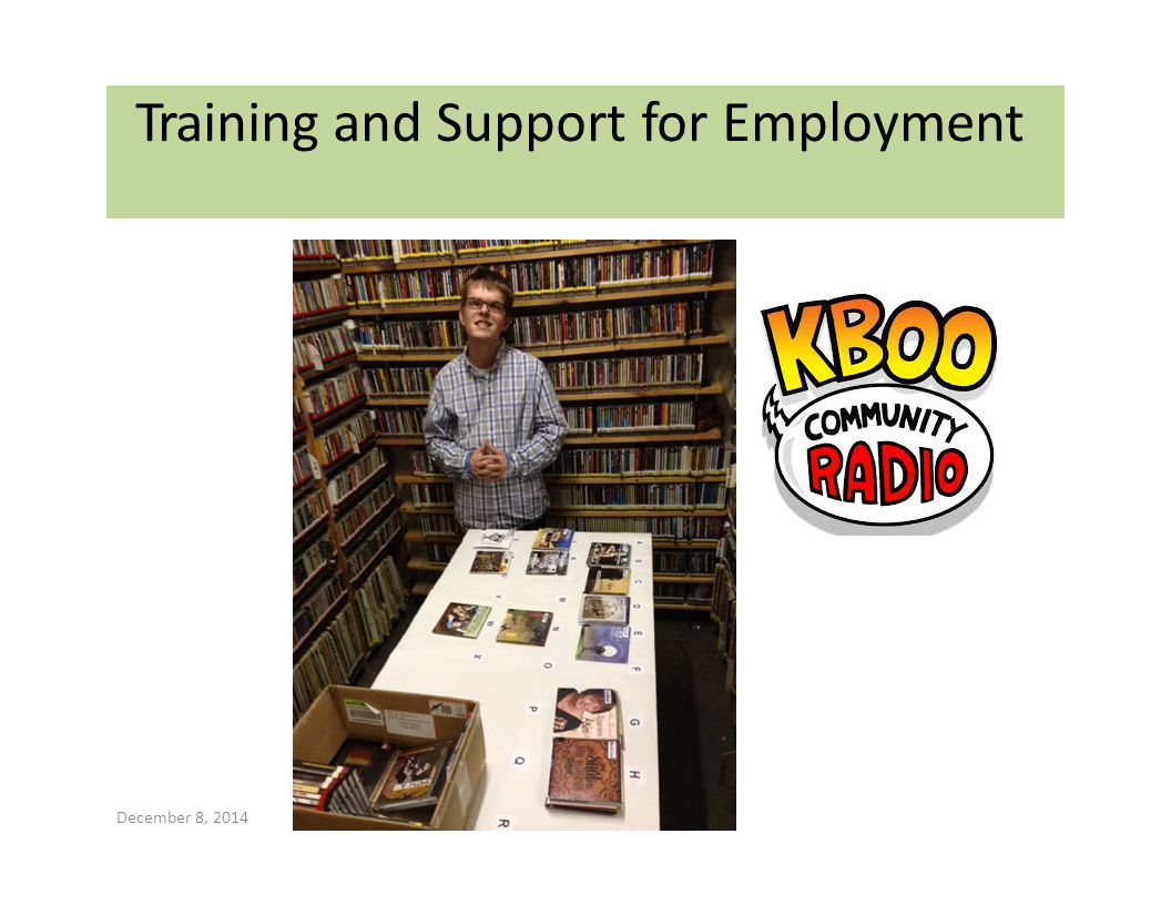 Training and Support for Employment