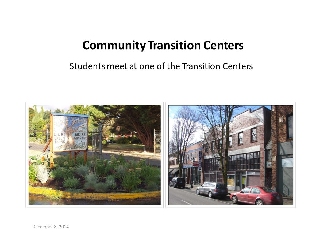 Community Transition Centers