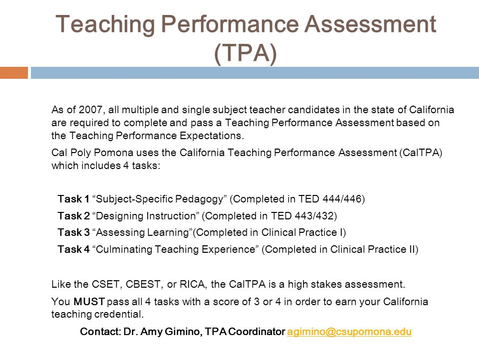 Teaching Performance Assessment (TPA)