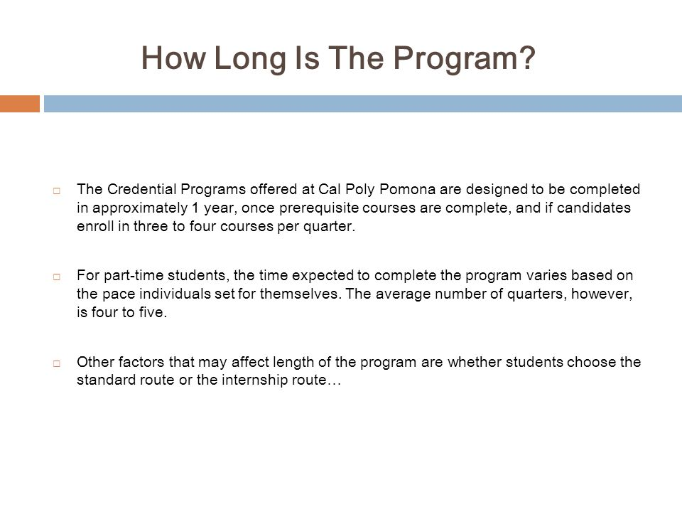How Long Is The Program